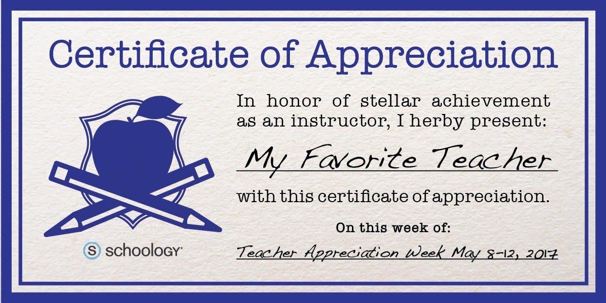 Teacher Appreciation Certificate Pdf Fresh Certificate Appreciation Amazon Flowersheet