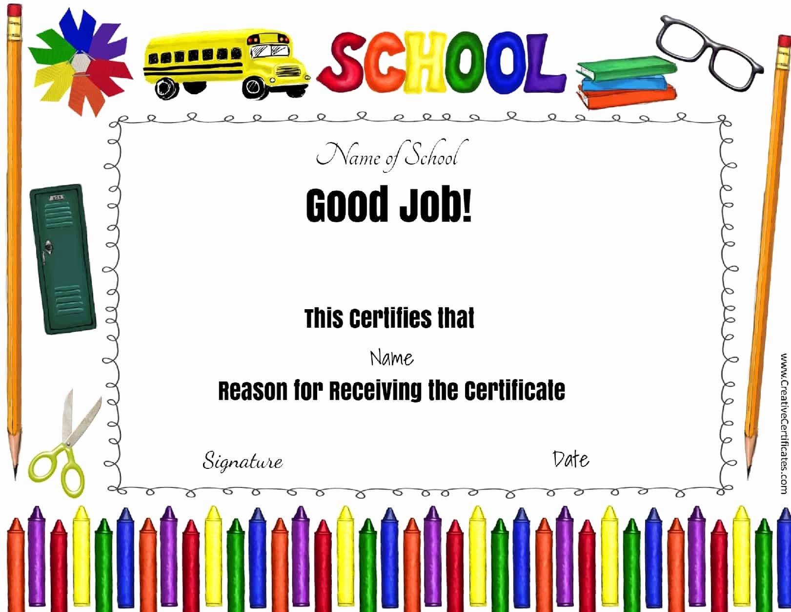 Teacher Appreciation Certificate Pdf Inspirational Free School Certificates & Awards