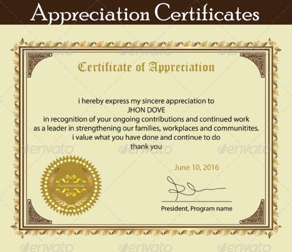 Teacher Appreciation Certificate Pdf Luxury 18 Employee Certificate Of Appreciation Designs