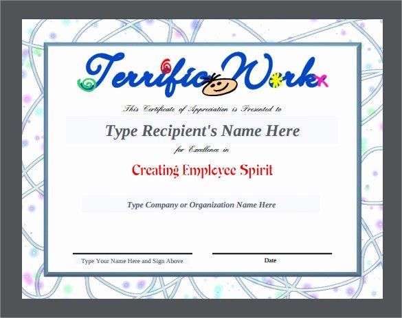 Teacher Appreciation Certificate Template Awesome Sample Certificate Of Appreciation Temaplate 12