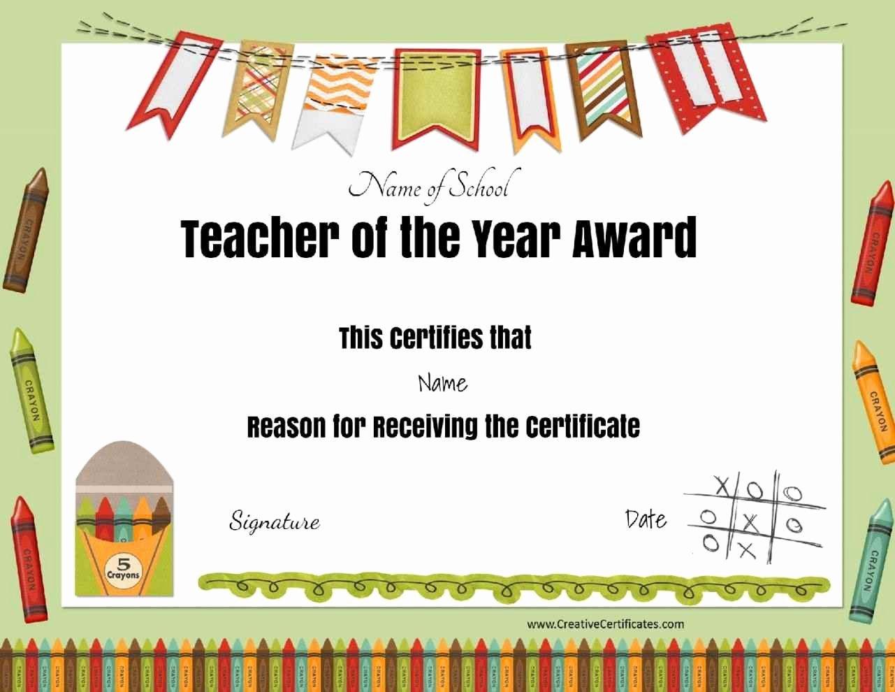 Teacher Appreciation Certificate Template Best Of Certificate Appreciation for Teachers Template