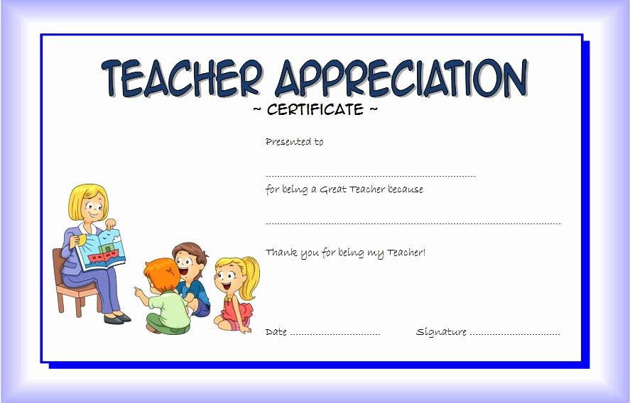 teacher appreciation certificate free printable