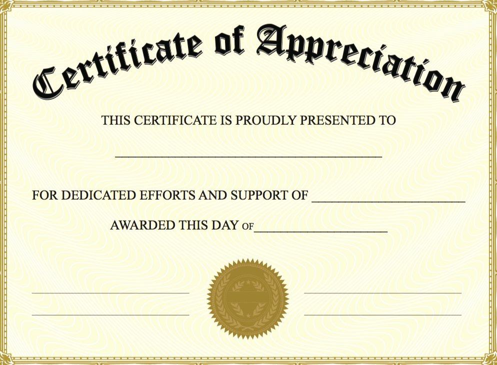 Teacher Appreciation Certificate Template Free Beautiful 6 Best Of Create Awards Line Certificate
