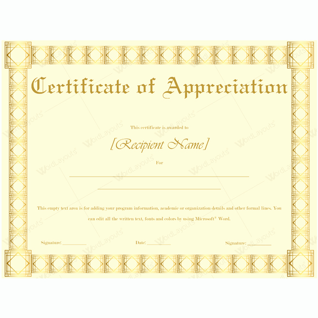 Teacher Appreciation Certificate Template Free Inspirational Teacher Appreciation Certificate Template