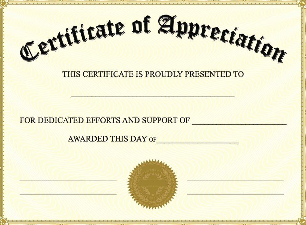 Teacher Appreciation Certificate Template Free Lovely Certificate Appreciation Template Word Doc – Planner