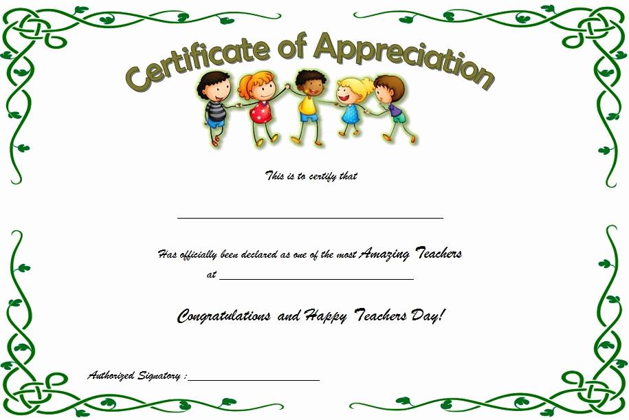 Teacher Appreciation Certificate Template Free Lovely Teacher Appreciation Certificate Free Printable 10 Ideas