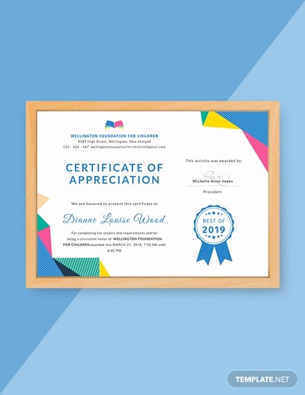 Teacher Appreciation Certificate Template Free Luxury Free Pastor Appreciation Certificate Template Download