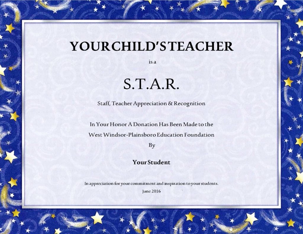 Teacher Appreciation Certificate Template Free Luxury Stars now Available Honor Your Child S Teacher
