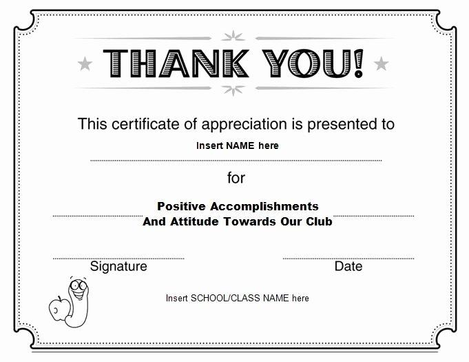 Teacher Appreciation Certificate Template Free Unique Certificate Of Appreciation 07