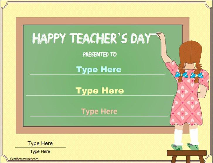 Teacher Appreciation Certificate Template Free Unique Special Certificates Teacher S Day Certificate Template
