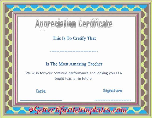 Teacher Appreciation Certificate Template Inspirational 37 Best Certificate Of Appreciation Templates Images On