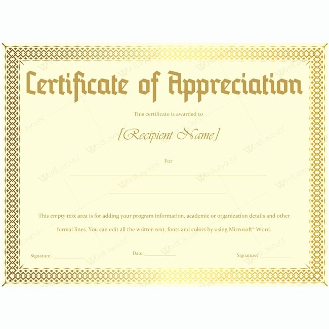 Teacher Appreciation Certificate Template Lovely 26 Best Certificate Of Appreciation Templates Images On