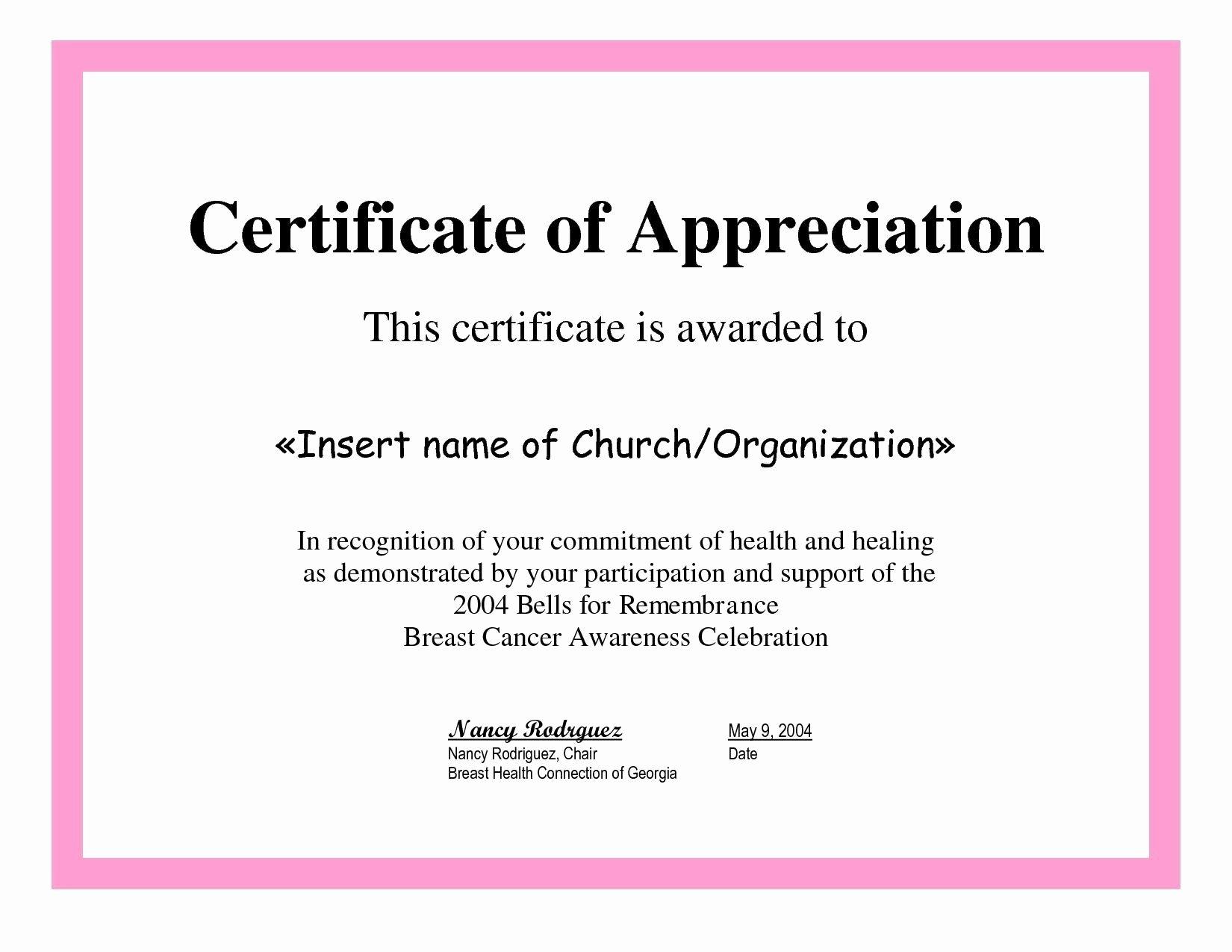 Teacher Appreciation Certificate Template Luxury Certificate Recognition Sample for Teachers