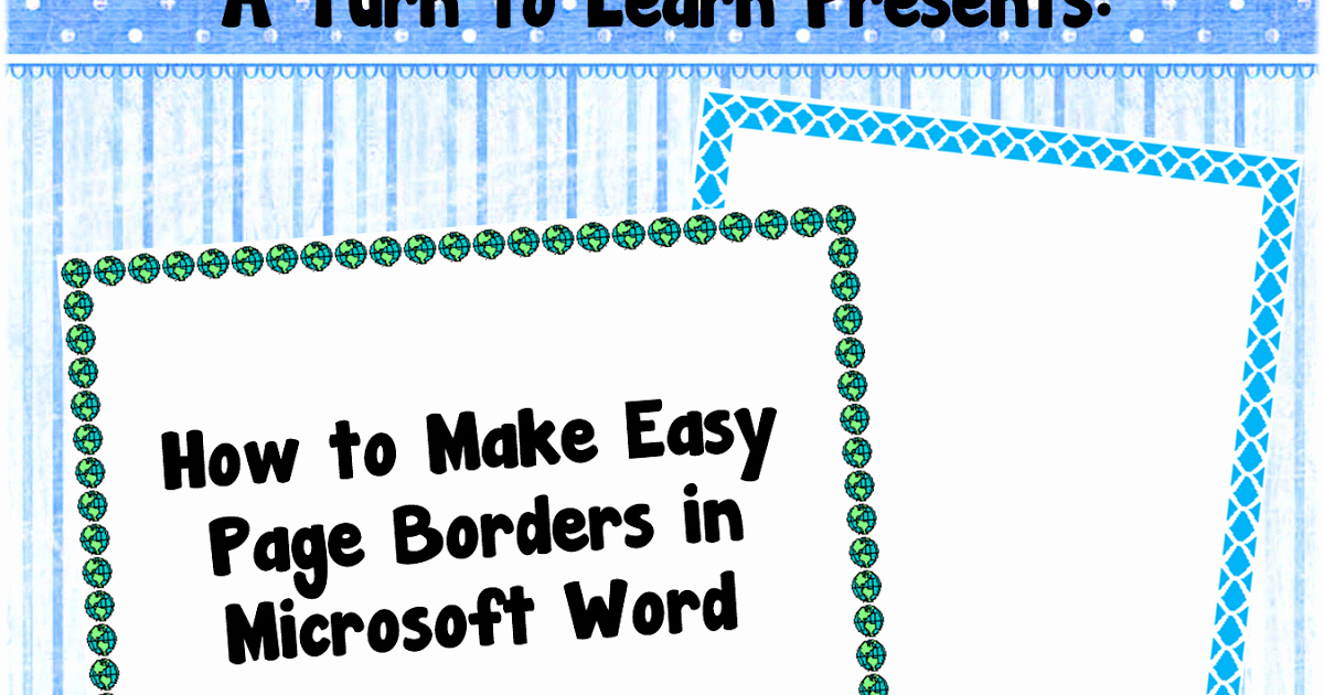 Teacher Borders for Word Elegant Classroom Freebies How to Make Easy Page Borders In
