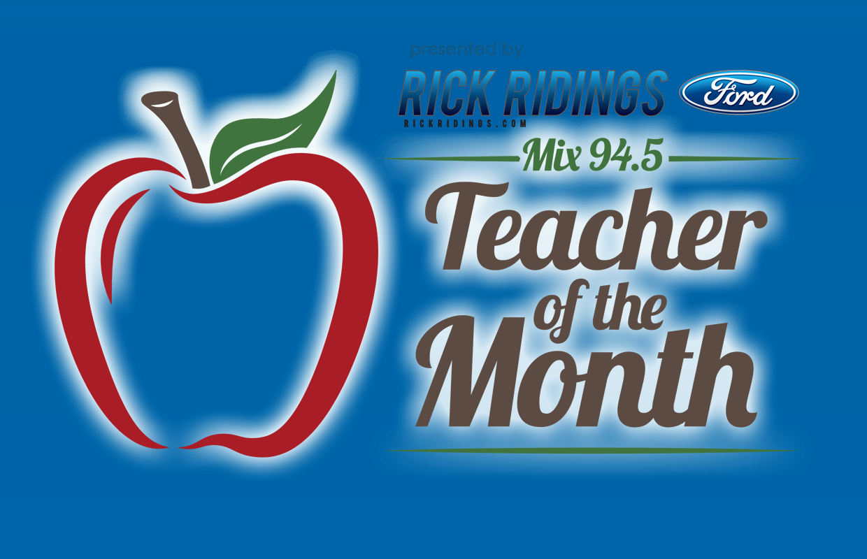 Teacher Of the Month Certificate Elegant Teacher Of the Month Award Mix 94 5 Wlrwmix 94 5 Wlrw