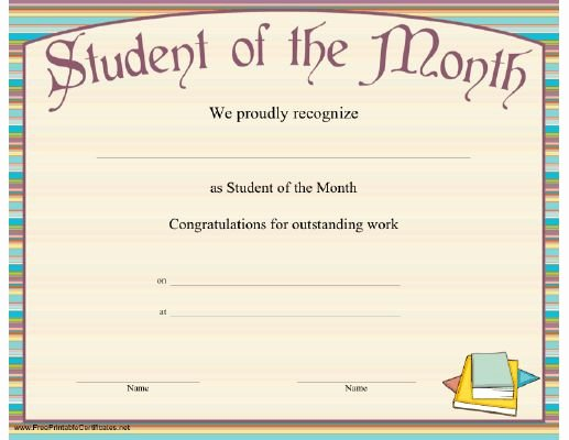 Teacher Of the Month Certificate Fresh 23 Best School Bus Stuff Images On Pinterest