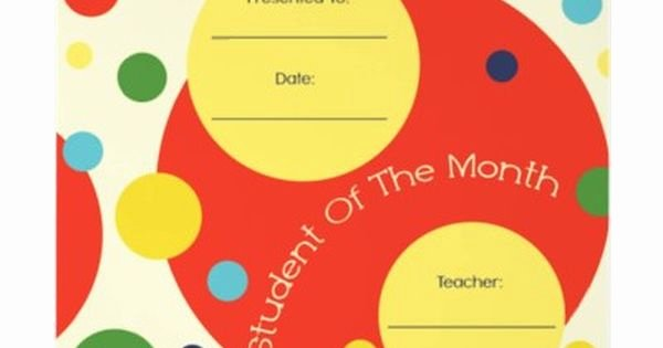 Teacher Of the Month Certificate Lovely Student Of the Month Award Certificate Letterhead Template