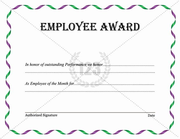 Teacher Of the Month Certificate Template Inspirational Best Employee Award Template Download now