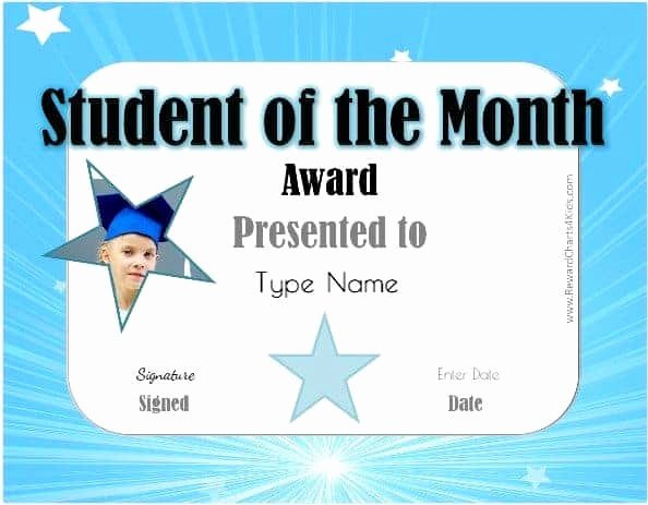 Teacher Of the Month Certificate Template New Free Student Of the Month Certificate