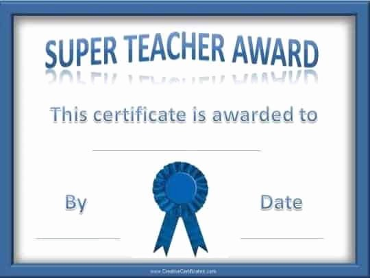 Teacher Of the Year Award Template Best Of Teacher Of the Year Award Certificates
