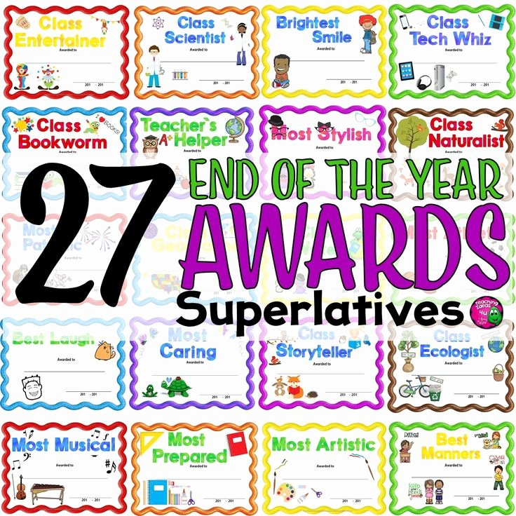 Teacher Of the Year Certificate Beautiful 27 End Of the Year Superlative Award Certificates & 2