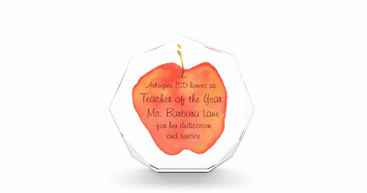 Teacher Of the Year Certificate Lovely Teacher Of the Year Award