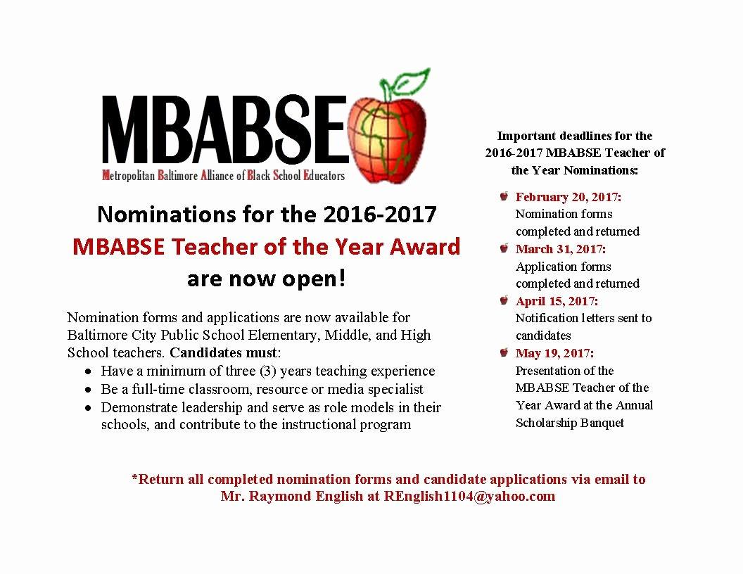 Teacher Of the Year Certificate Luxury Baltimore Teachers Union