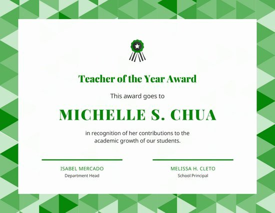 Teacher Of the Year Certificate Printable Best Of Customize 129 Award Certificate Templates Online Canva