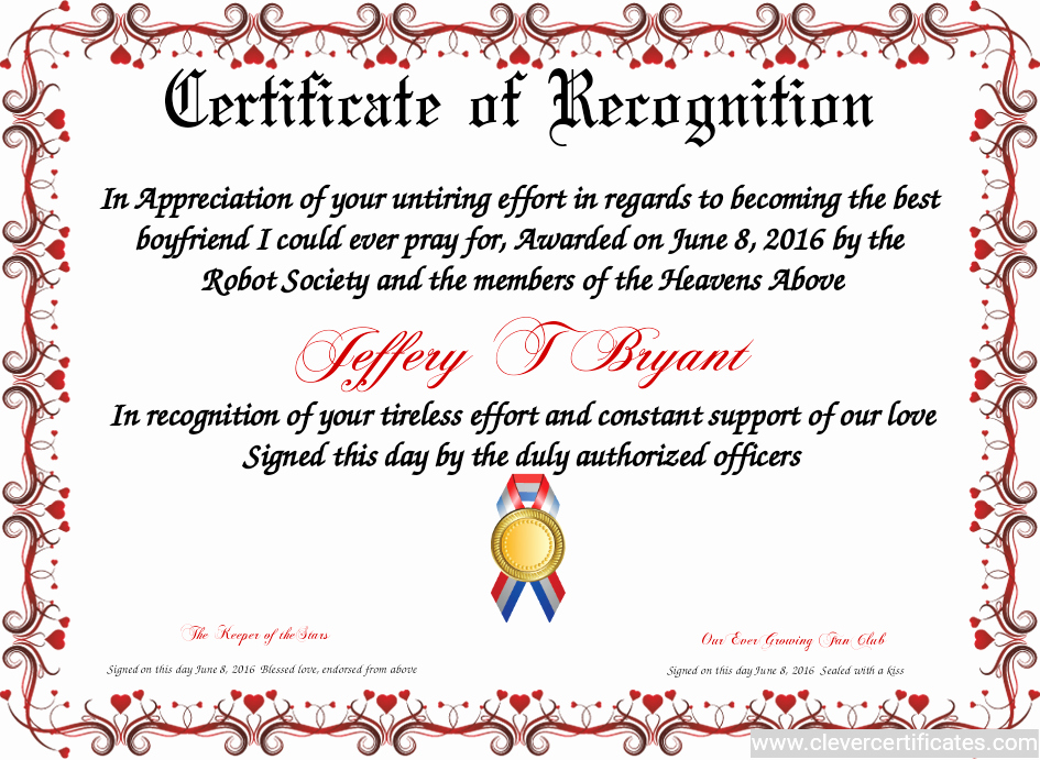 Teacher Of the Year Certificate Printable New Certificate Of Recognition Free Certificate Templates