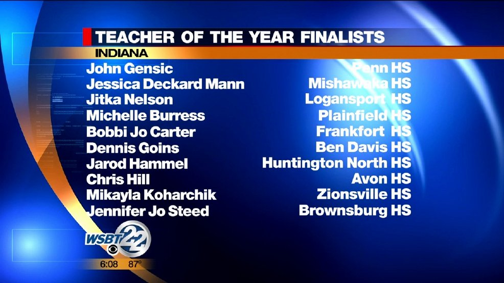 Teacher Of the Year Certificate Unique Two Local Teachers Finalists for Indiana Teacher Of the