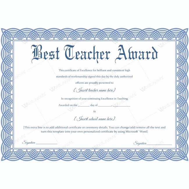 Teacher Of the Year Plaque Wording Inspirational 1000 Images About Best Teacher Award Certificate