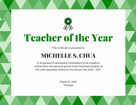 Teacher Of the Year Plaque Wording Lovely Ribbon Loyalty Award Certificate Templates by Canva