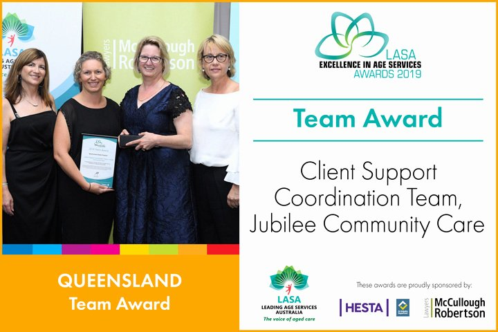 Team Award Write Up Awesome Best Of Age Services In Qld Recognised Lasa National