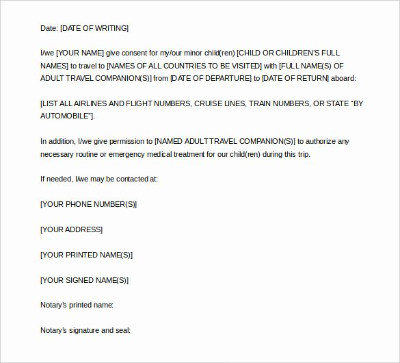 Template for Notarized Letter Best Of 7 Notarized Letter Template Doc Pdf