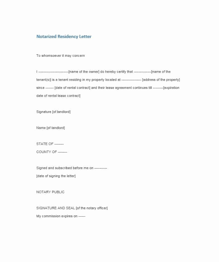 Template for Notarized Letter Best Of Notarized Letter Near Me