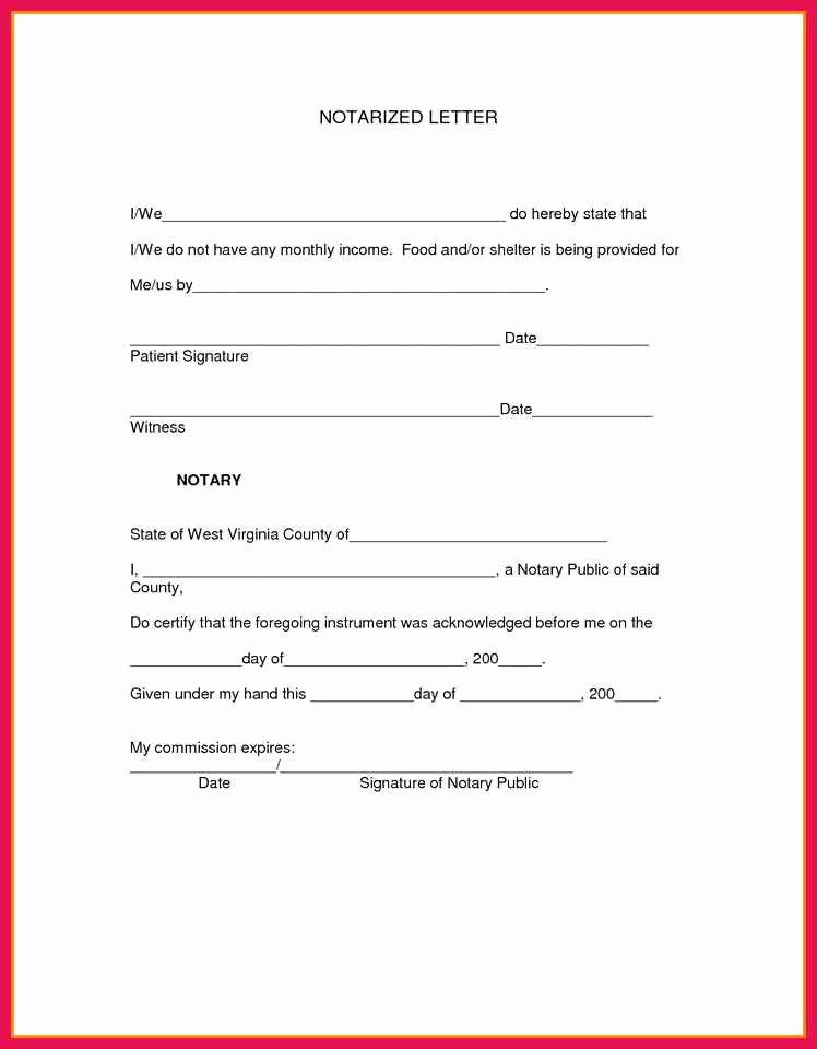 Template for Notarized Letter Best Of Sample Notary Letter Template
