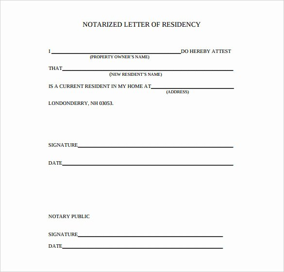 Template for Notarized Letter Luxury 7 Notarized Letter Template Doc Pdf