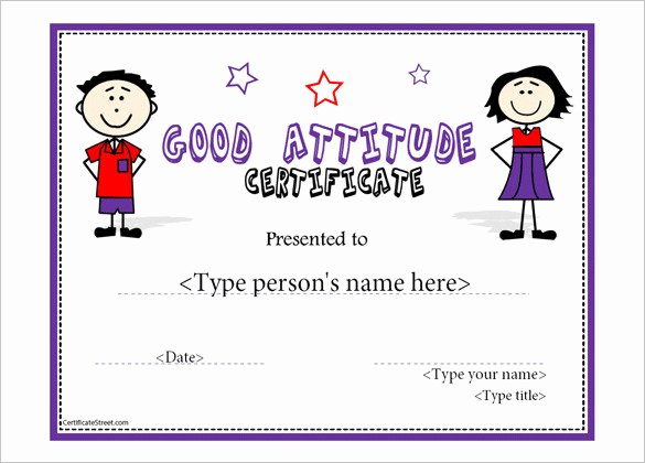 Template for Perfect attendance Certificate Elegant attendance Certificate Templates