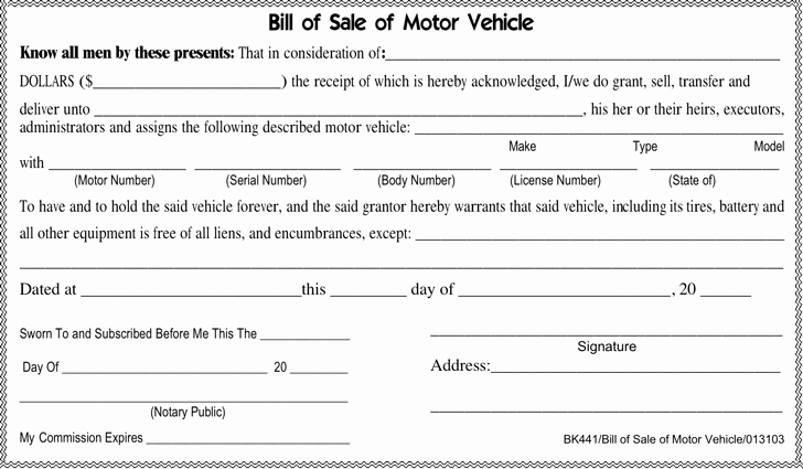 Tennessee Bill Of Sale for Trailer New Bill Of Sale Template Free Template Download Customize