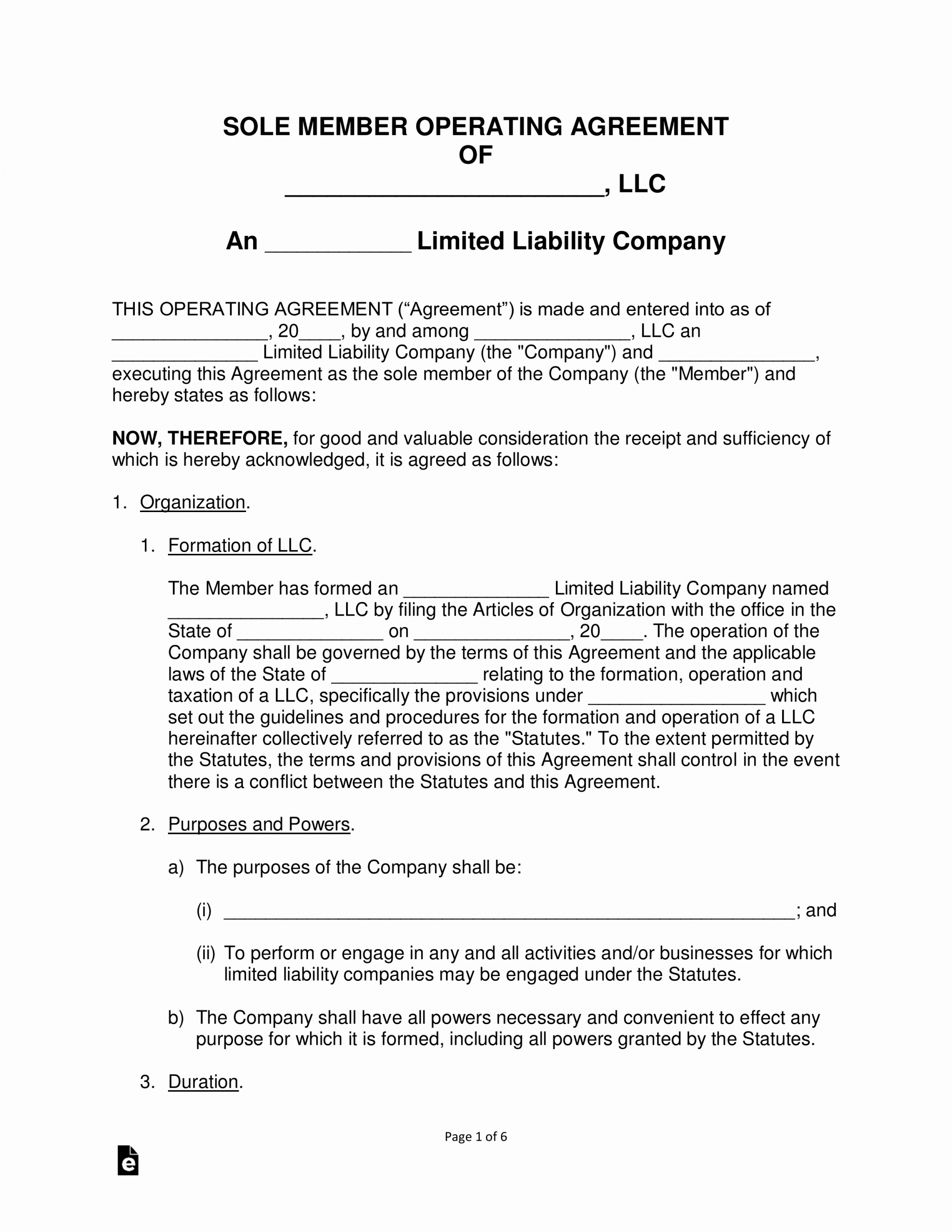 Texas bylaws Template Unique Free Single Member Llc Operating Agreement Template Pdf