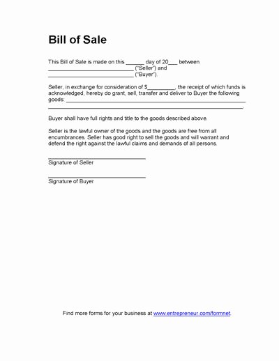 Texas Trailer Bill Of Sale Best Of Free Printable Equipment Bill Sale Template form Generic