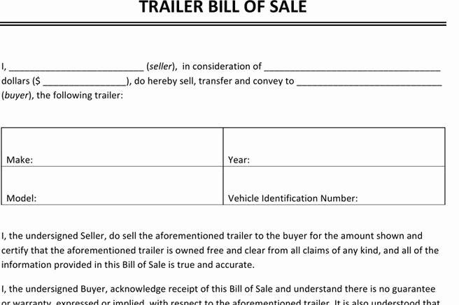 Texas Trailer Bill Of Sale Luxury 248 Bill Of Sale form Free Download