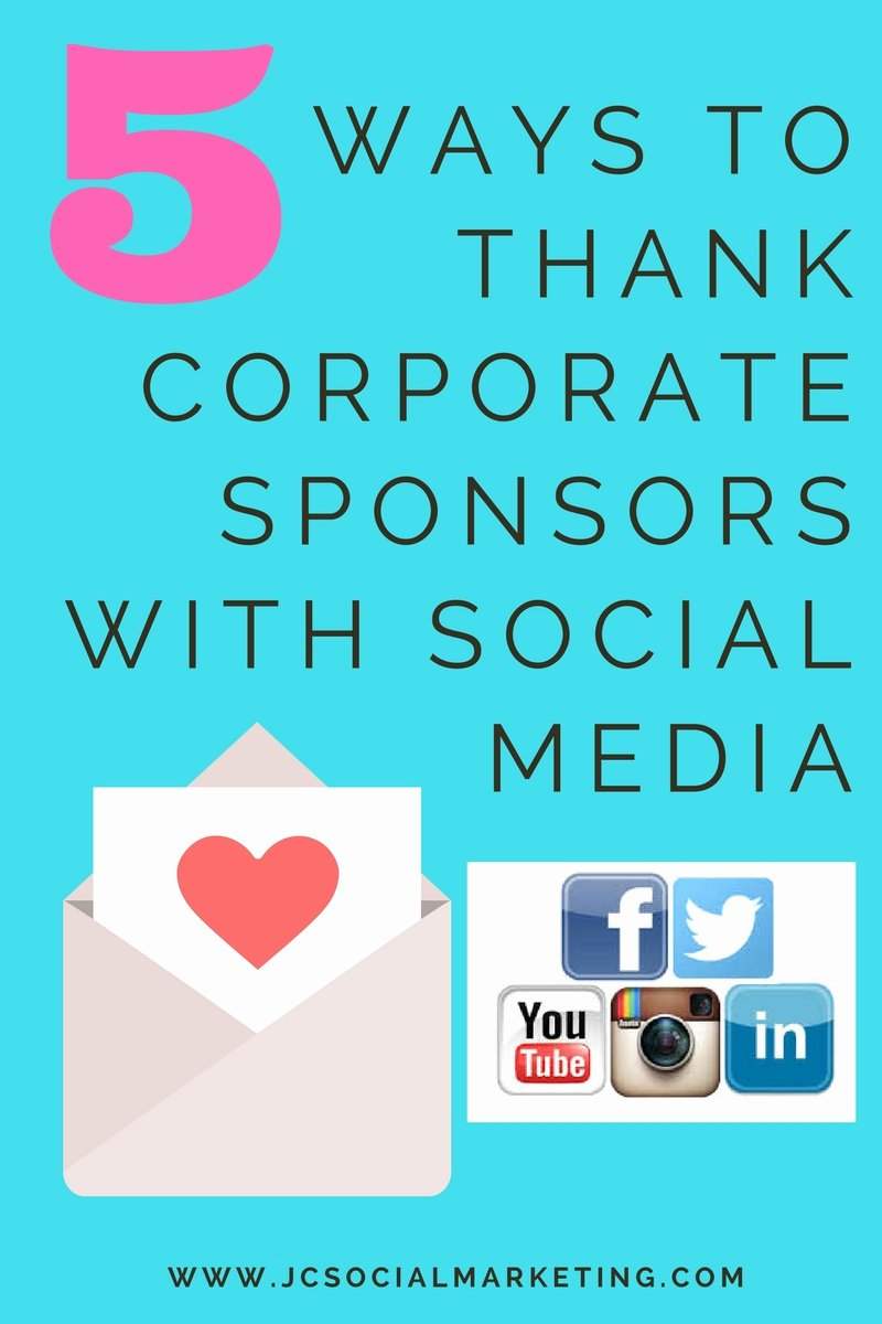Thank You for Sponsoring event Fresh Thanking event Sponsors 5 Ways to Thank Corporate