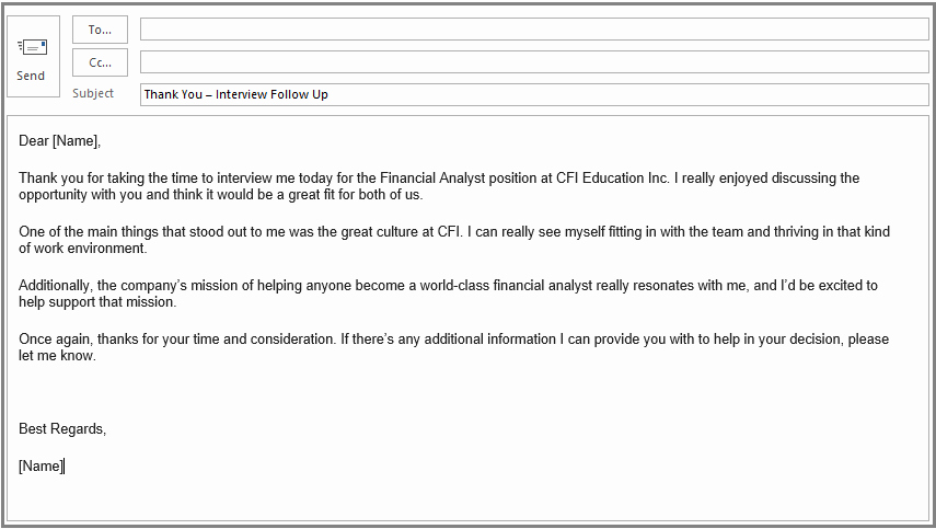 Thank You Interview Email Subject Line Inspirational Thank You after Interview Email Example Template What