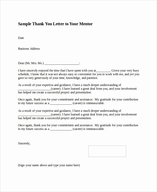 Thank You Letter Outline Best Of Sample Thank You Letter format 8 Examples In Word Pdf
