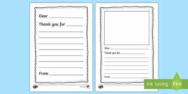 Thank You Letter Outline Inspirational Thank You Letter Writing Template Thank You Letter Writing