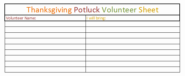 Thanksgiving Potluck Signup Sheet Luxury Fice Holiday Celebrations Thanksgiving Potlucks