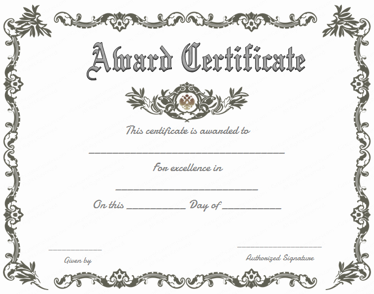 The Bearer Of This Certificate is Entitled to Template Inspirational Award Certificate Sample