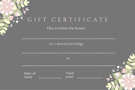 The Bearer Of This Certificate is Entitled to Template Luxury Green Black Pink Hair Salon Gift Certificate Templates