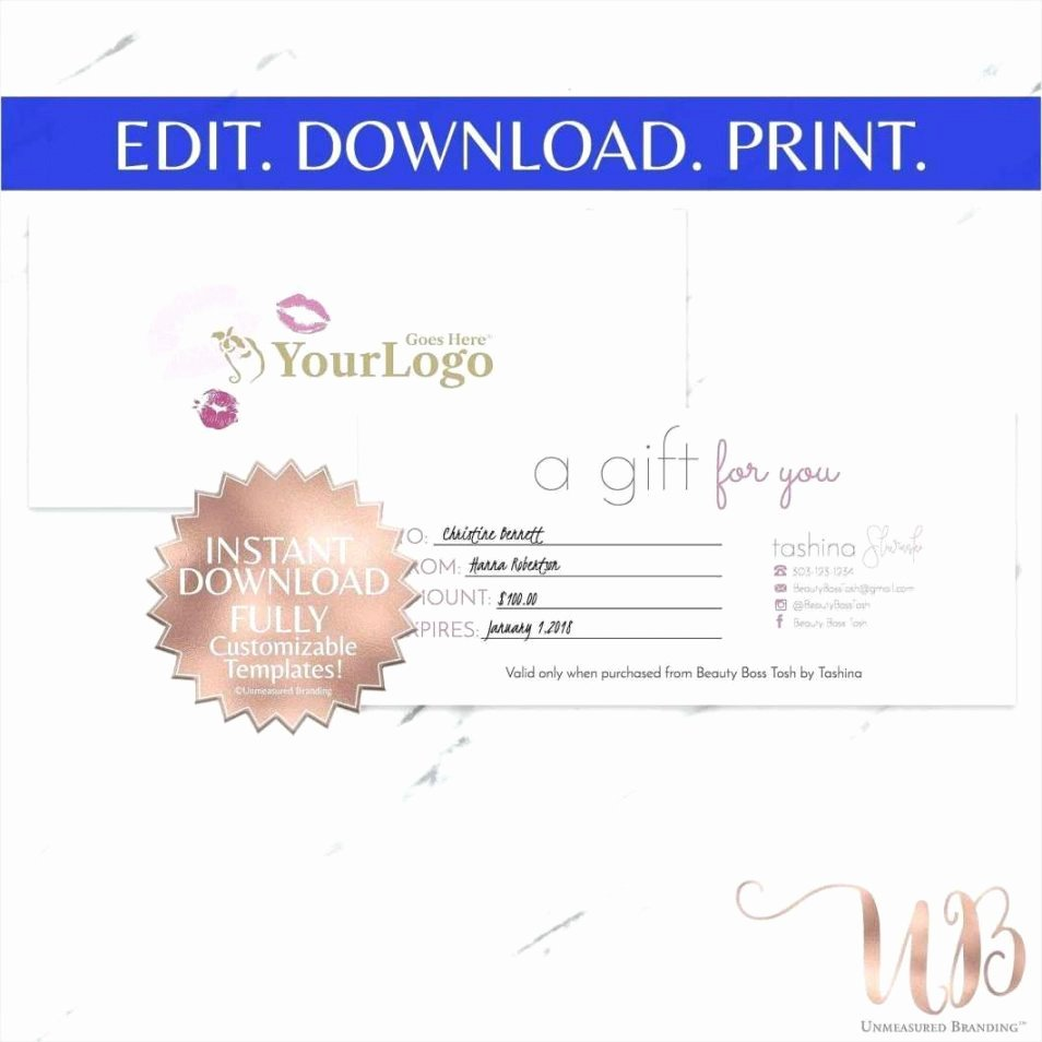 The Bearer Of This Certificate is Entitled to Template New Printable Beauty Salon Gift Certificate Template